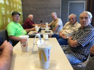 Drink coffee with local Hams @ McDonalds coffee
